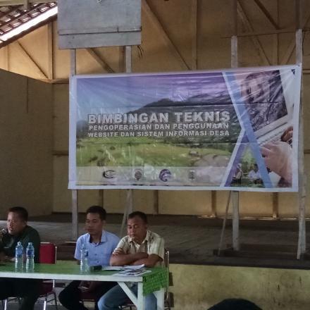 Kegiatan Bimbingan Teknis Pngoprasian dan Penggunaan Website dan Sistim Informasi Desa